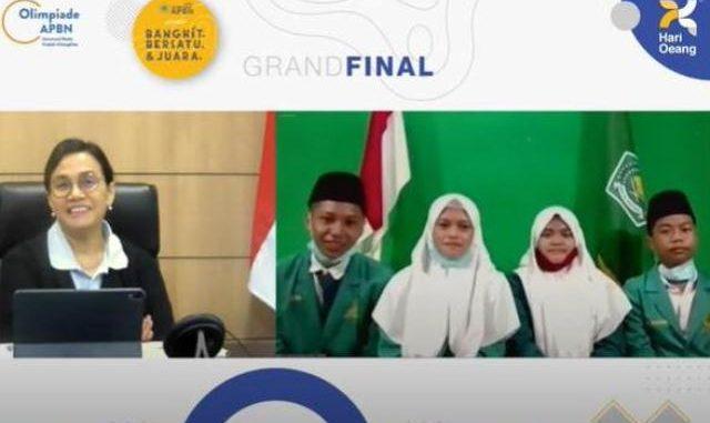 Pengumuman juara konten APBN tingkat SMP tahun 2020 yang digelar Ditjen Anggaran Kementerian Keuangan. (KalderaNews.com/Dok.Kemenag)
