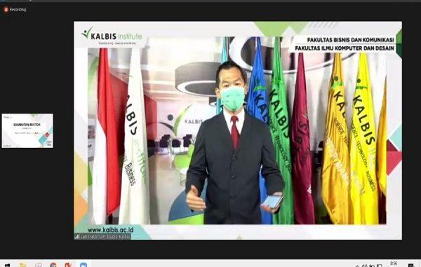 Kalbis Institute melakukan perubahan nama Fakultas. Penetapan nama dilakukan secara virtual melalui aplikasi Zoom (KalderaNews/ Dok. Kalbis Institute)