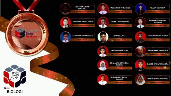 Para pemenang peraih medali perak KSN jenjang SMA Bidang Biologi 2020