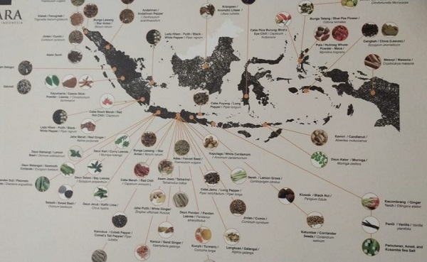 Peta Jalur Rempah di Indonesia