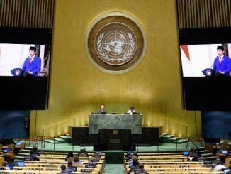 Ilustrasi: Presiden Joko Widodo menyampaikan pidato pada Sesi Debat Umum Sidang Majelis Umum ke-75 Perserikatan Bangsa-Bangsa (PBB), Rabu, 23 September 2020.. (KalderaNews.com/Ist.)