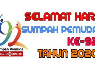 Logo dan ucapan Hari Sumpah Pemuda ke-92 (KalderaNews/ Dok. Youtube)