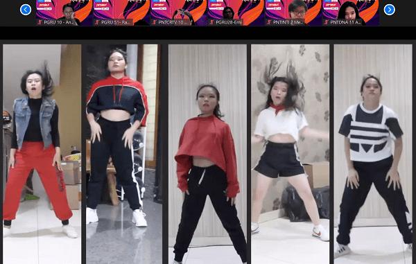 Tim Modern Dance SMAK 5 Penabur unjuk gigi dalam penutupan Escalades Revival pada Sabtu malam, 17 Oktober 2020 .(KalderaNews/Dok. SMAK 5 Penabur)