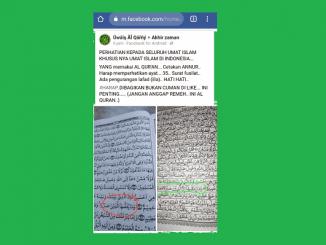 Viral Al-Qur'an Salah Cetak