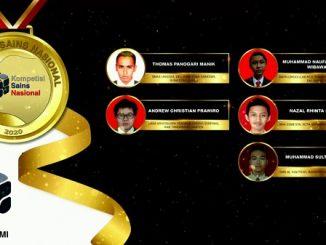 Para pemenang peraih medali emas KSN jenjang SMA Bidang Astronomi 2020