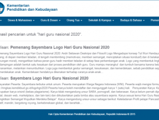 Link pengumuman pemenang Sayembara Logo Hari Guru Nasional 2020 sudah tidak bisa diakses. (KalderaNews.com/y.prayogo)