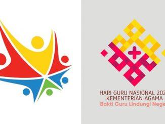 Ilustrasi: Dua versi logo Hari Guru Nasional 2020. (KalderaNews.com/repro: y.prayogo)