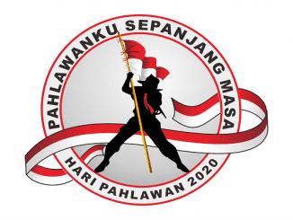 """Logo Hari Pahlawa 2020 dengan tema """"Pahlawanku Sepanjang Masa"""" (KalderaNews/ Dok. Kemensos)"""