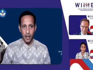 Menteri Pendidikan dan Kebudayaan, Nadiem Anwar Makarim pada penutupan WINNER 2020 (26/11) (KalderaNews/Syasa Halima)