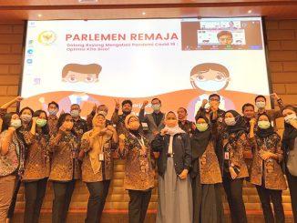 Ilustrasi: Pembukaan Parlemen Remaja 2020 secara virtual. (KalderaNews.com/Dok. DPR RI)