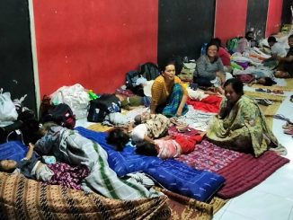 Pengungsi Gunung Merapi di Tamanagung Muntilan