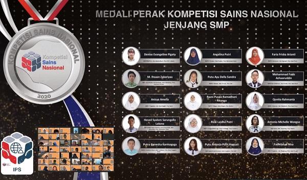 Peraih Medali Perak KSN Jenjang SMP Bidang IPS 2020