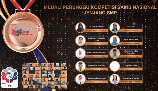 Peraih Medali Perunggu KSN Jenjang SMP Bidang IPS 2020