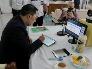 Penandatanganan letter of intent (LoI)/perjanjian kerja sama dilaksanakan secara virtual di Gedung Pakuan pada Rabu pekan ini, 18 NOvember 2020 disaksikan Duta Besar Inggris untuk Indonesia dan Timor Leste, Owen Jenkins