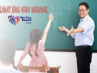 Ilutrasi: Selamat Hari Guru Nasional 2020. (KalderaNews.com/repro:y.prayogo)