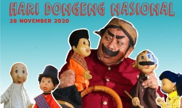Suyadi (Alm.) pemeran tokoh Pak Raden bersama boneka dalam serial Si Unyil. (KalderaNews.com/repro: y.prayogo)