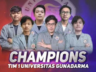Tim Universitas Gunadarma menjadi juara dalam ajang Mobile Legends Campus Championship 2020. (KalderaNews.com/Dok.Universitas Gunadarma)