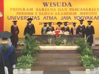 Universitas Atma Jaya Yogyakarta (UAJY) menggelar Wisuda Periode I Tahun Akademik 2020/2021 secara daring. (KalderaNews.com/Dok.UAJY)