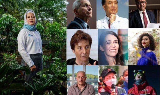 Ilustrasi: 10 orang berpengaruh dalam dunia sains versi Jurnal Nature. (KalderaNews.com/Dok. Nature)