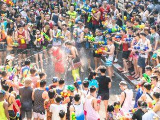 Ilustrasi: Festival Songkran di Thailand untuk menyambut tahun baru. (KalderaNews.com/Ist.)