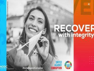 Hari AntiKorupsi Sedunia selalu diperingati pada 9 Desember 2020. Berkenaan dengan pandemi Covid-19, Recover with Integrity menjadi tema pada tahun ini (KalderaNews/Dok. UNODC)