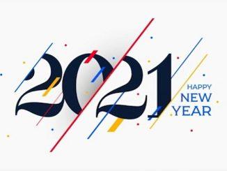 Ilustrasi ucapan tahun baru 2021 dalam Bahasa Inggris (KalderaNews/Ist)