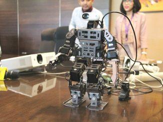 Robot Nayakalara, inovasi Binus University untuk mencegah penyebaran Covid-19. (KalderaNews.com/Dok. BINUS)