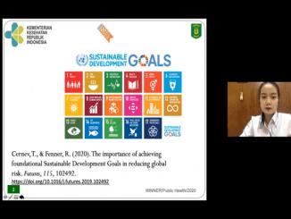 17 bidang pembangunan berkelanjutan (SGD's) yang ditetapkan oleh PBB. Tak dapat dipungkiri bahwa kesehatan merupakan dasar untuk mencapai pembangunan berkelanjutan yang sejahtera (KalderaNews/Syasa Halima)
