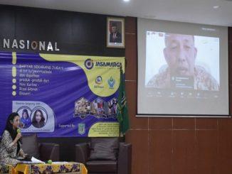 Unas dan PT Jasa Marga Tbk mengadakan virtual sales sebagai media UMKM untuk melakukan pemasaran dan mendongkrak pendapatan UMKM (KalderaNews/Dok.Unas)
