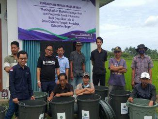 Uhamka gelar pelatihan budi daya ikan lele di Cibitung Tengah, Kabupaten Bogor. Pelatihan dilakukan secara hybrid (KalderaNews/Dok. Uhamka)