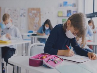 Masuk sekolah saat pandemi Covid-19 (KalderaNews/Ist)