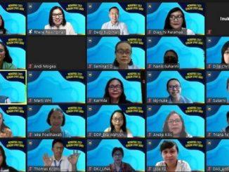 """Peserta temu virtual bertajuk """"Menapaki 2021 dengan Spirit Baru"""" BPK PENABUR Jakarta pada Rabu, 6 Januari 2021"""