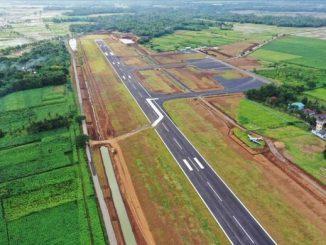Runway Bandara JB Soedirman di Purbalingga