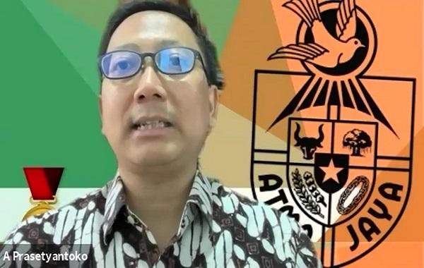Rektor Unika Atma Jaya, Dr. A. Prasetyantoko. (KalderaNews/Dok. Unika Atma Jaya)