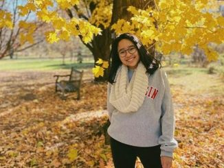 Alumnus Sekolah Cikal, Agalia Ardyasa di University of Wisconsin, Madison, USA