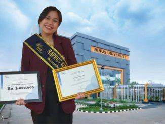 Agnes Isna Kuswondo, mahasiswi Binus University yang meraih juara 3 Mahasiswa Berprestasi 2020 tingkat nasional. (KalderaNews.com/repro: y.prayogo)