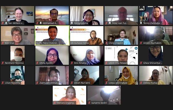 Peserta Series #3 Orange Talk yang diselenggarakan Jaringan Alumni Belanda di Indonesia (NL Alumni Network Indonesia) pada Jumat, 26 Februari 2021