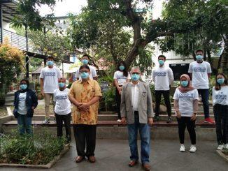 Rektor Universitas Budi Luhur, Dr. Ir. Wendi, Usino, M.Sc., M.M bersama Duta Perubahan Perilaku Covid-19 (Satgas Blutizen)