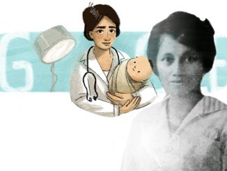 Ilustrasi: Marie Thomas, dokter perempuan pertama di Indonesia menjadi ilustrasi logo Google. (KalderaNews.com/repro: y.prayogo)