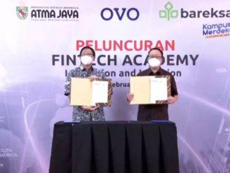 Peluncuran Fintech Academy Unika Atma Jaya, OVO, dan Bareksa secara virtual, Selasa, 16 Februari 2021. (KalderaNews.com/y.prayogo)