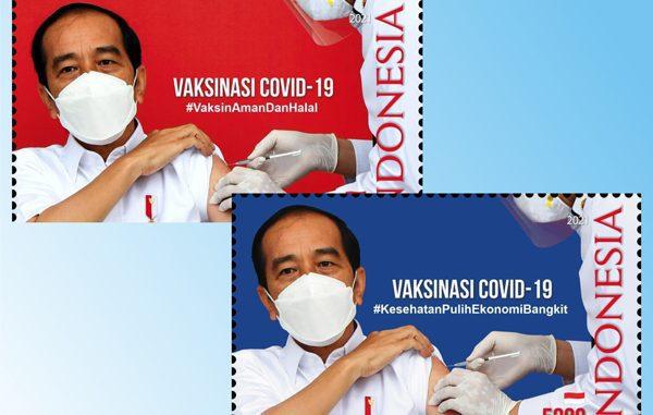 Prangko seri vaksinasi Covid-19. (KalderaNews.com/Ist.)