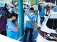 Menteri BUMN Erick Thohir melakukan uji coba mobil listrik (KalderaNews.com/kominfo.go.id)