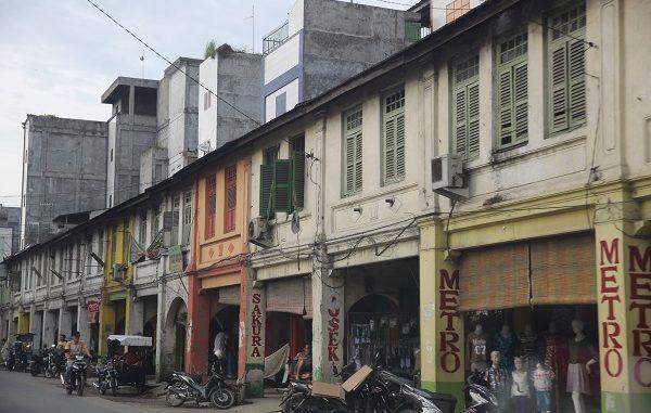 Bangunan tua di salah satu dudut di Kota Medan, Sumatera Utara