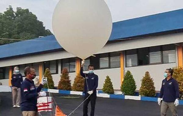 LAPAN Pasuruan meluncurkan balon ozon satu-satunya di Indonesia. (KalderaNews.com/Dok.Lapan)