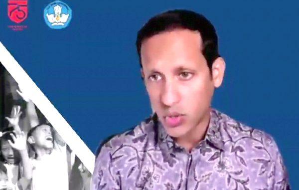 Menteri Pendidikan dan Kebudayaan, Nadiem Anwar Makarim. (KalderaNews.com/y.prayogo)