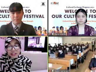 Sekolah Cikal Setu dan Itsukaichi High School Jepang menggadakan pertukaran pelajar secara daring. (KalderaNews.com/Dok.Sekolah Cikal)