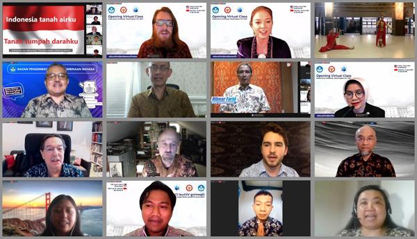 KBRI Washington DC membuka kelas virtual bahasa Indonesia. (KalderaNews.com/Dok.KBRI Washington)