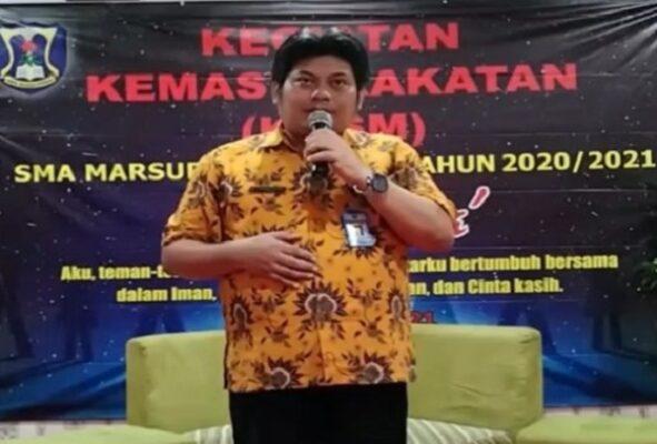 Kepala SMA Marsudirini Bekasi, Hubertus Nugroho Sudjatmiko, S. Pd. M.