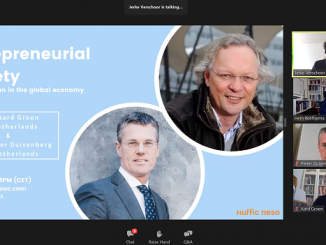 MOOC perdana pada 20 April 2021 yang membahas Entrepreneurial Society bersama President Association of Universities in the Netherlands (VSNU), Pieter Duisenberg dan Dekan Kewirausahaan di University of Groningen, Aard Groen yang memiliki pengalaman lebih dari 30 tahun di bidang kewirausahaan, inovasi, pengembangan bisnis dan pemasaran