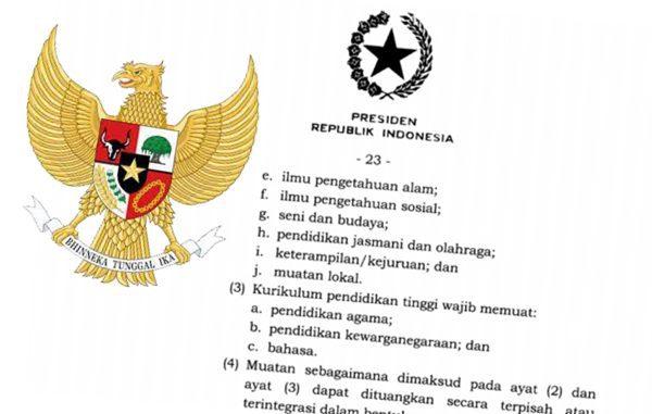 Ilustrasi: Salinan Peraturan Pemerintah Nomor 57 Tahun 2021 tentang Standardisasi Nasional Pendidikan. (KalderaNews.com/repro: y.prayogo)